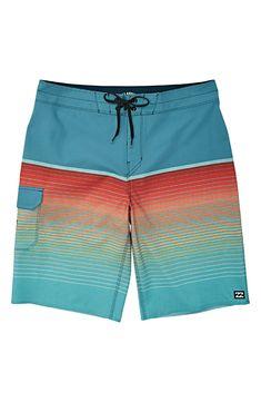 Rainbow Dinosaur T Rex Mens Classic Summer Boardshorts with Pockets