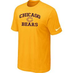 064a2d23ae3 Chicago Bears Heart Soul Yellow T-Shirt Wholesale 3691 Ugg Boots Cheap