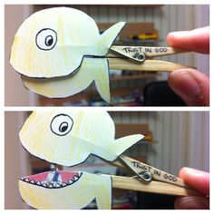 sunday school jonah and the whale   Cool little peg craft to help tell the story of Jonah and the whale.