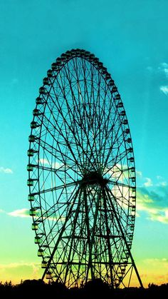 Beautiful background for a Ferris wheel.