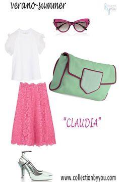 'Claudia' customizado en verde menta para combinarlo con un outfit en rosa. Diseña el tuyo en www.collectionbyyou.com