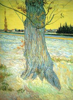 "Trunk of an Old Yew Tree, 1888. Oil on canvas.  ""As for me, I am rather often uneasy in my mind, because I think that my life has not been calm enough; all those bitter disappointments, adversities, changes keep me from developing fully and naturally in my artistic career."" (Vincent van Gogh,1889) ""Revealing The Many Faces Of Vincent Van Gogh On His 161st Birthday""  http://www.huffingtonpost.com/2014/03/30/vincent-van-gogh_n_5051910.html"