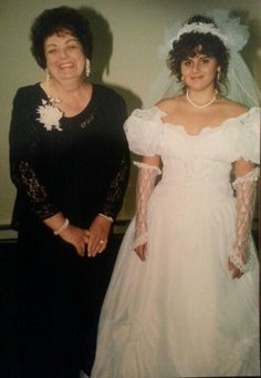 Mom and I on my Wedding Day September 14th, 1996 ♥♥♥ One of my favorite photos
