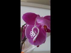 Ciondolo fiore al chiacchierino ad ago / Flower pendant tatting needle - YouTube