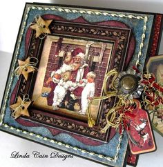 Isn't this 5x5 altered box from @Linda Bruinenberg Bruinenberg Cain incredible? Click to see the many pictures from this wonderful creation! #graphic45