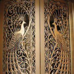 Gold iron gates