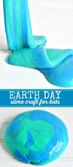 DIY Earth Day Slime Craft for Kids