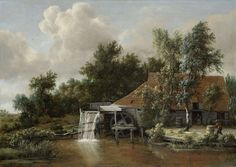 Meindert Hobbema, A Watermill. Lines and Colors: http://linesandcolors.com/2015/01/04/eye-candy-for-today-meindert-hobbema-watermill/