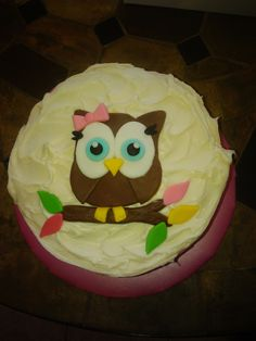smash cake idea for baby's first birthday-owl theme