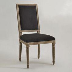 World Market: black square dining chair