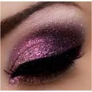 cute pink and glittery eyeshadow.