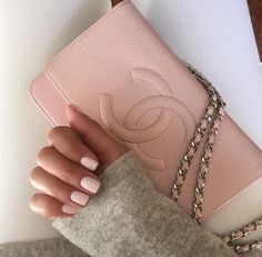 pink nails and a matching pink Chanel bag Clothing, Shoes & Jewelry : Women : Handbags & Wallets : Women's Handbags & Wallets hhttp://amzn.to/2lIKw3n