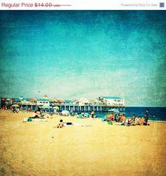 Beach photo, beach, Old Orchard Beach, Maine, boardwalk, summer, sand, ocean, surf , beach art - Old Orchard Beach, 5x5 photograph