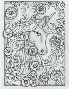 Printable Coloring Pages Of Unicorns Fresh Unicorn Greyscale Drawing Unedited Unicorn Coloring Pages, Printable Adult Coloring Pages, Coloring Pages To Print, Coloring For Kids, Coloring Pages For Kids, Coloring Sheets, Coloring Books, Fairy Coloring, Diy Y Manualidades