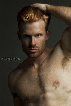 Redhead albino muscle porn