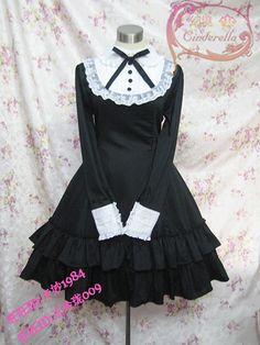◆ ◆ illusion dress LOLITA \ SD \ COSPLAY- academic Wisteria lovers long-sleeved dress models - Taobao