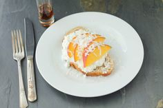 Easy balanced breakfast idea: Sourdough Toast Topped with Peaches and Coconut