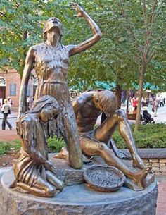 Boston memorial to victims of the Irish Potato Famine. Potato Famine, Irish Famine, Irish Potatoes, Metal Sculptures, Luck Of The Irish, Travel News, Ireland Travel, Plan Your Trip, Yard Art