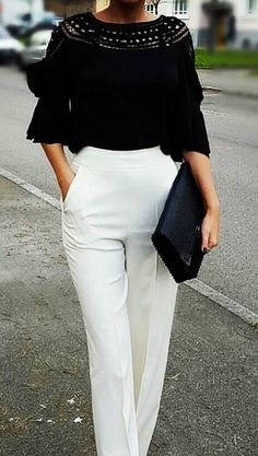 Black and White Evening Wear