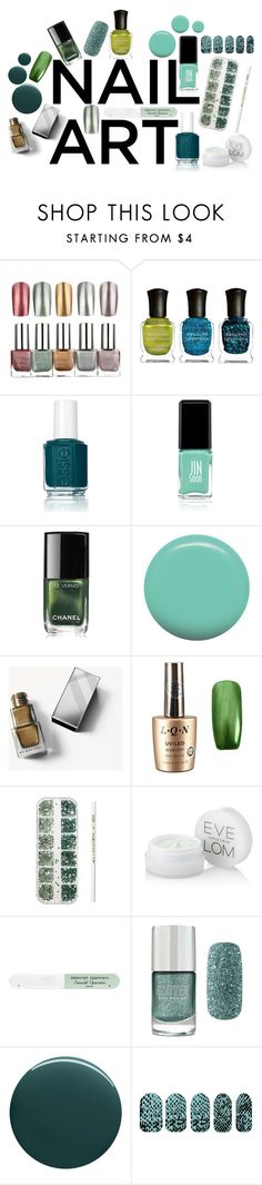 """""""Green With Envy: Wintery Nail Polish"""" by love-blair-serena ❤ liked on Polyvore featuring beauty, Deborah Lippmann, Essie, Jin Soon, Chanel, Burberry, Eve Lom, Forever 21 and nailedit"""
