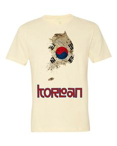 The Korea Flag T-Shirt regular fit by TravelTeez on Etsy