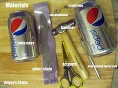 Crissy's Crafts: Upcycle - Necklace made out of Soda Cans