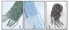 Quick and Easy Crochet Scarf 2 - use your scraps - a different color for each row.