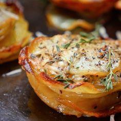 Parmesan Potato Stacks 奶酪烤土豆
