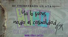 Ya lo sabes, nada es casualidad Soda Stereo Feliz sábado  para todos y todas! Visita www.elmuro.net.co #FelizSabado #SodaStereo #SodaManía #Sodacirque #Claridad #Cerati #Alberti #Bosio #Argentina #America #Latinoamerica #GraciasTotales #Casualidad #causa #ElRito #Signos #FraseDelDía #QuoteofTheDay #efemerides #RevistaElMuro #culturaalternativa #Cultura #optimismo #DailyyWisdom #SabiduríaDelDía #Sabiduría #Instawisdom #instapicture #PictureofTheDay #Graffiti #Graffitioftheday