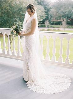 Lace overlay wedding dress: http://www.stylemepretty.com/2015/06/09/elegant-lowndes-grove-plantation-wedding-3/   Photography: Virgil Bunao - http://virgilbunao.com/