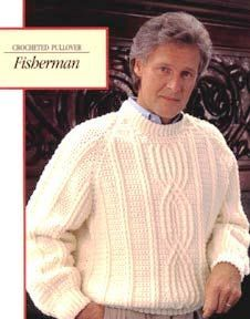 Fisherman's Crocheted Pullover - free crochet pattern - this sweater looks amazing!