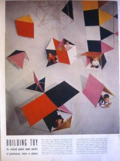 1951 The Building Toy Designed by Charles Eames Magazine Print | eBay
