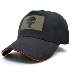 The Punisher Men Black Skull Baseball Cap    https://www.skullflow.com/collections/skull-caps/products/the-punisher-men-black-skull-baseball-cap