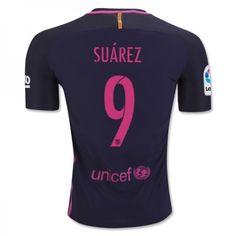 Barcelona 16-17 Luis #Suarez 9 Udebanesæt Kort ærmer,208,58KR,shirtshopservice@gmail.com