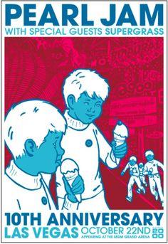 Mgm Grand Garden Arena, 10 Anniversary, Pearl Jam, Las Vegas, Comic Books, Comics, Movie Posters, Last Vegas, Film Poster
