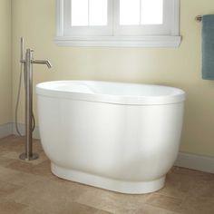 """Pelion Acrylic Freestanding Tub - Bathtubs - Bathroom 47"""" free standing tub"""