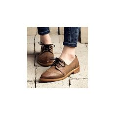Pointy Brogue Oxfords (62 AUD) ❤ liked on Polyvore featuring shoes, oxfords, footware, balmoral oxfords, oxford brogues, pointy shoes, balmoral shoes and brogue oxford shoes