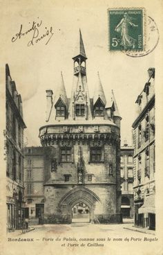 Carte postales anciennes Bordeaux Aquitaine, Vintage Postcards, Vintage Images, Bordeaux, Architecture, Antiques, Nature, Painting, Door Bells