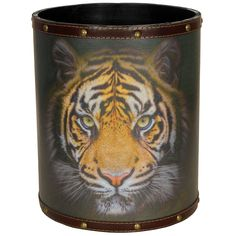 ORIENTAL FURNITURE Bengal Tiger Waste Basket