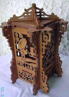 Japanese lantern, scroll saw fretwork pattern