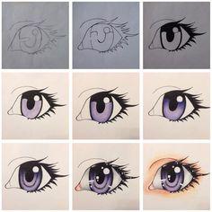 Eye colour tutorial - Purple - by dalloola1996.deviantart.com on @DeviantArt