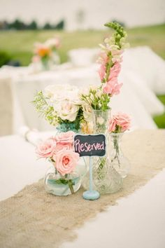 adorable table decorations #blush #pink