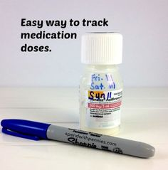 Quick Tip:  Easy way to track medication doses! Love it?  Pin it to SAVE it! Follow Spend With Pennies on Pinterest for more great tips, ideas and  recipes! Leave your own great tips in the comments below! I don't know about you, but when I'm really sick and sleepy…  I sometimes have trouble remembering if …