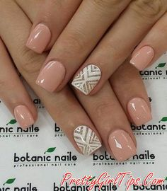 @prettygirltips beige-nails-with-stylish-patterns via