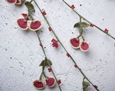 """Crochet necklace - turkish lace - needle lace - oya necklace - 124.41"""" - FAST worldwide shipment with UPS - halime-008"""