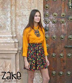 aaaffaa5f6 🍁🍃🍂Perfecto look para alegrar los días de otoño🍂🍃🍁 Encuentra tus  prendas favoritas en  Zake