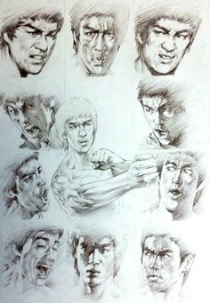 Sketches of Bruce Lee. Bruce Lee Art, Bruce Lee Quotes, Kung Fu, Bruce Lee Children, Bruce Lee Pictures, Legendary Dragons, Enter The Dragon, Little Dragon, Martial Artist