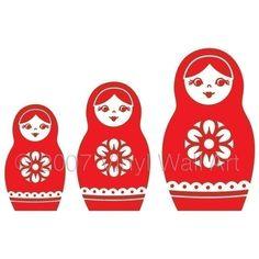 Nesting Dolls Vinyl Decal SMALL by AbbysVinylWallArt on Etsy, $8.00