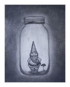 glass jar gnome