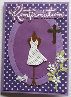 Konfirmationskort Communion, Card Making, Kids Rugs, How To Make, Ideas, Decor, Cards, Birthday, Decoration